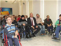 Manuel Rodríguez con discapacitados