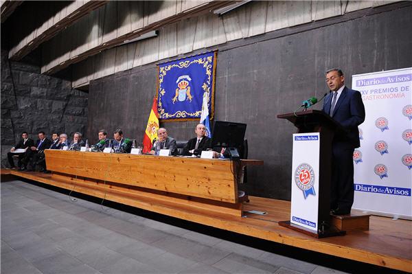 Paulino Rivero, presidente del Gobierno de Canarias durante el acto