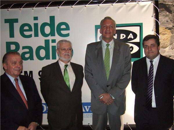 Juan Manuel Bethencourt, Manuel Rodríguez, Octavio Calderín y Manuel Iglesias (de dcha. a izq.)