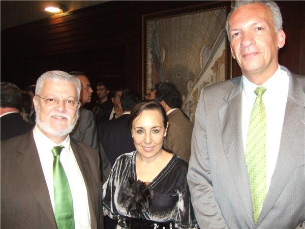 Octavio Calderín, Ángela Mena y Manuel Rodríguez