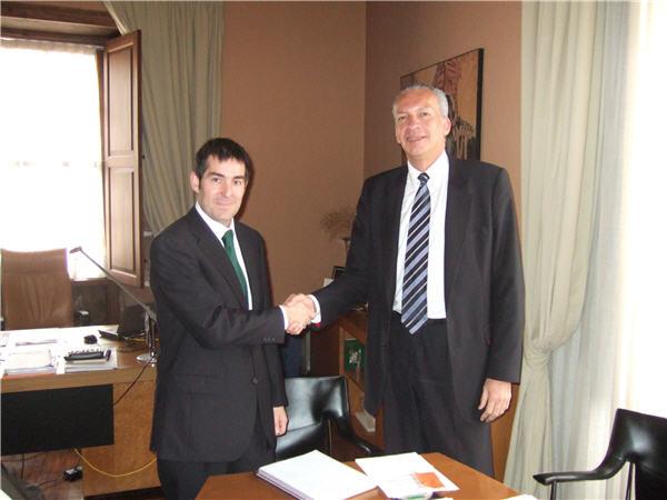 Manuel Rodríguez, Director de MAC, y Fernando Clavijo, alcalde de La Laguna