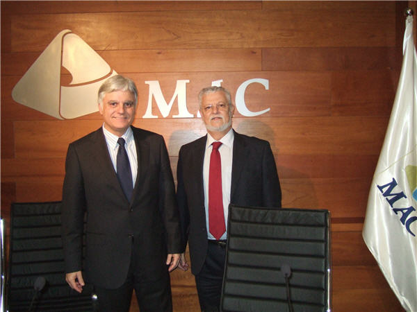 José Miguel Pérez, presidente del Cabildo de Gran Canaria y Octavio Calderín