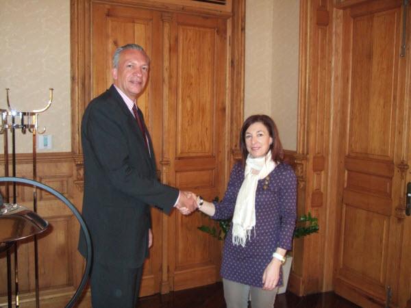Manuel Rodríguez y Margarita Ramos, Catedrática de Derecho del Trabajo y de la Seguridad Social