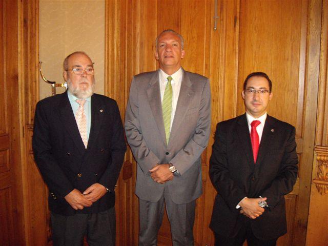 De izq. a dcha, Pedro Reverón, Manuel Rodríguez y José Ramón Dámaso