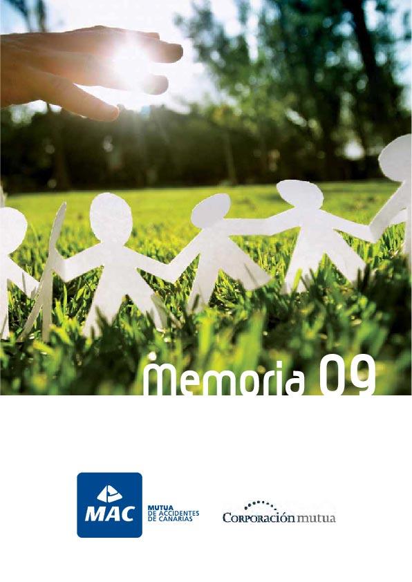 Portada de la Memoria anual 2009