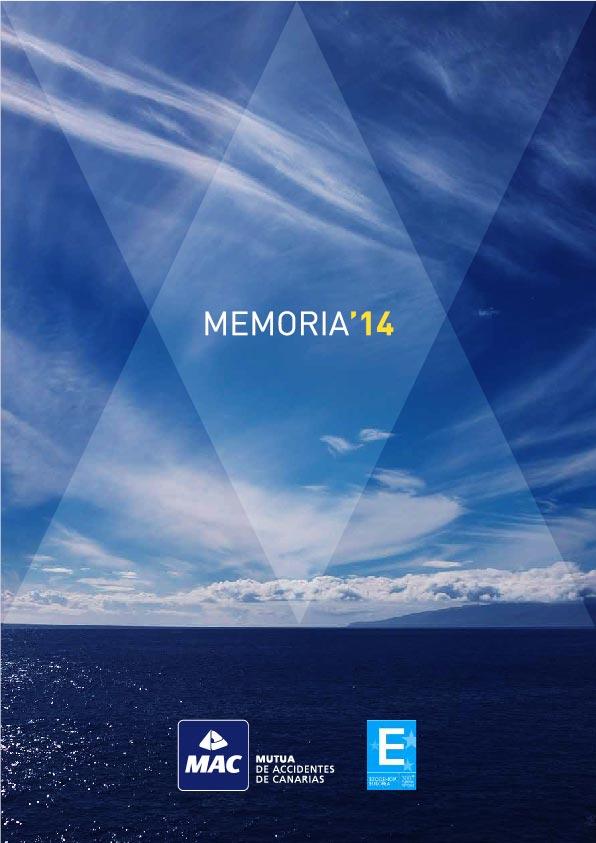 Portada de la Memoria anual 2014